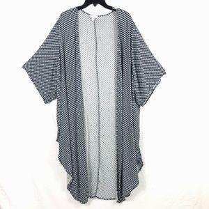 Terra & Sky Plus Size Open Front High Low Kimono